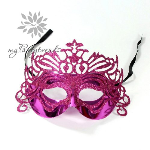 myPartytrends Venedigmaske 'Pink Butterfly', venezianische Maske, Faschingsmaske, Erotikmaske, Karnevalsmaske
