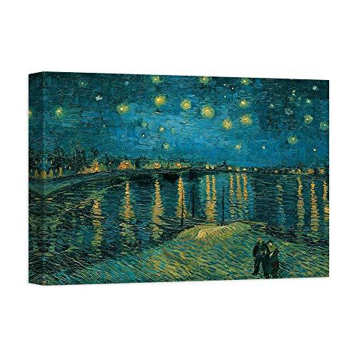 DìMò ART Kunstdruck auf Leinwand auf Leinwand, Motiv Van Gogh, Vincent La Nuit Toile-Arles -