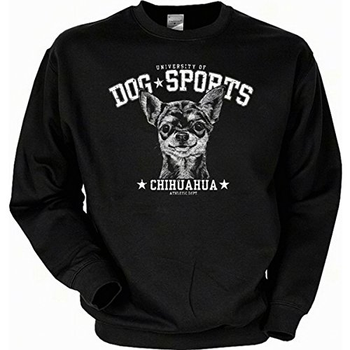 Hunde motiv Chihuahua Sweatshirt Gr XXL in schwarz (Chihuahuas In Halloween Kostüme)