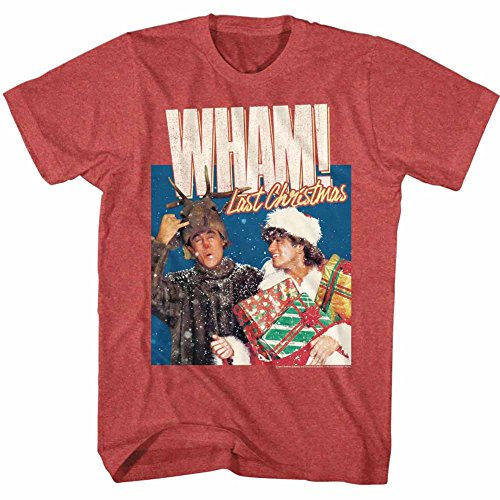 Wham Last Christmas Red Heather Adult T-Shirt Tee