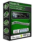 Citroen C4reproductor de CD, Pioneer unidad central Plays iPod iPhone Android USB AUX en