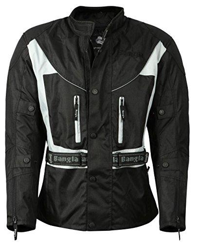 Bangla 017a Motorrad Jacke Motorradjacke Textil wasserdicht schwarz-grau Gr. XXL (Outdoor-jacke Absolute)