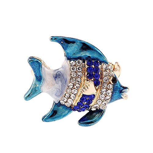 Luziang Broschen Pin Farbe küssen Fische männlichen Dame Brosche Anzug Kleid-Geeignet für Alle Arten von Anlässen