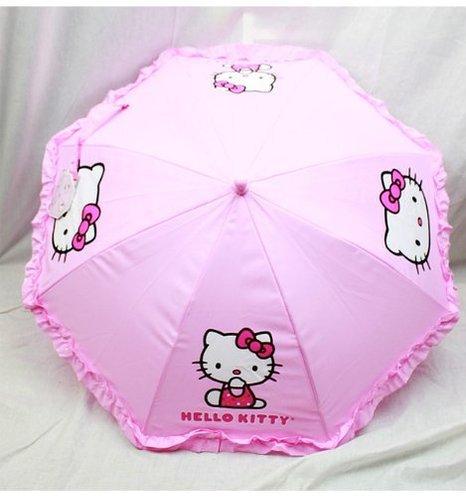 regenschirm-hello-kitty-pink-face-logo-mit-schnrsenkel-figur-griff-new-hek556r