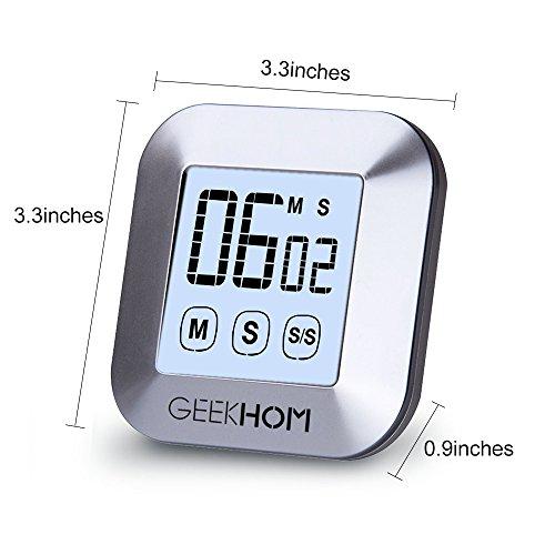 ^ GEEKHOM Timer da Cucina Magnetico, Timer Digitale con Cronometro Ad Alta Voce, e Ampio Schermo LCD per Cucina comprare on line