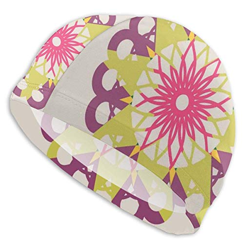 Gebrb Cuffie da Nuoto,Cuffie da Bagno, Elastic Cuffia Piscina,Symbols of Love with Pastel Colors Wedding And Engagement Inspirations,for Men Women Youths