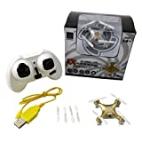 Cheerson CX-10 A 2.4 GHz 4 CH 6 assi Gyro 3d Tumbling Headless Mode Mini RC Quadcopter UFO RTF con luci a LED (nero)