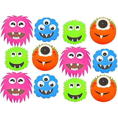 12 Monster Alien Halloween Masken aus Schaumstoff-Fun-Children's Face Masks von Spielzeug-Frosch Blau