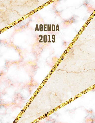 Agenda 2019: Élégant et Pratique   Mosaïque en Marbre Beige et Rose Doré   Agenda Organiseur Pour Ton Quotidien   52 Semaines   Janvier à Décembre 2019 (Agenda semainier, Band 3) - 52 Beige Rose