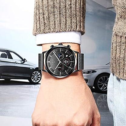 LIGE-Herren-Uhren-Mode-Wasserdichte-Chronograph-Sport-Quarz-Uhr-fr-Mann-Luxus-Business-Kleid-mit-Schwarzem-Edelstahlgewebe