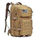 G4Free Grand Sac à Dos Tactique Militaire 3 Jours d'assaut Molle Bug Out Sac à Dos pour randonnée, Camping, Trekking, Chasse, Kaki