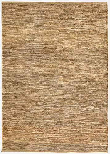 HAMID Alfombra Yute Ubeda Color Natural - Alfombra 100% Fibra de Yute 60x110cm