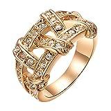 Yoursfs Roma Ringe Anmut von Rose Gold Überzogen Damen Schmuck Vergolden Verlobungsringe