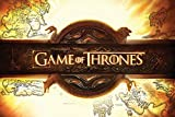 Game of Thrones Drucken, Holz, Mehrfarbig, 61 x 91.5cm