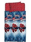 Asditex Juego de Sábanas Infantil 3 Piezas Spiderman de Marvel para Invierno CORALINA, Cama 90 y 105 cm (90 cm)