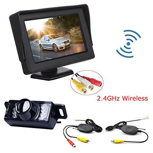 COCHE de marcha atrás inalámbrica para visión nocturna cámara + 10,92 cm Monitor LCD sistema de copia de seguridad