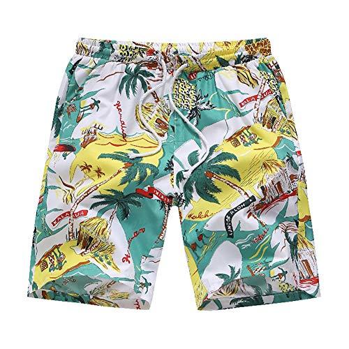 zx-shop Herren-Badehose, schnell trocknende Beachboard-Shorts, wasserdichter, atmungsaktiver Badeanzug, geeignet für Schwimmen, Surfen, Laufen, Fitnessstudio, Fitness, Freizeithosen