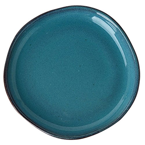 JZ Geschirr Antalya Blue Green Keramik Dish Runde Salat Steak Pasta Western Food Geeignet Für Küche Restaurant Cafe (größe : 15 * 15 * 2.2cm (6 inches)) Cafe Blue Fruit Bowl