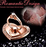 Universal Love Metal Finger Holder Gold with Diamonds Love Ring Buckle Stand Phone Holder For iPhone 6 6s 6Plus 7 Samsung HTC Mobile Phone Smart Phone