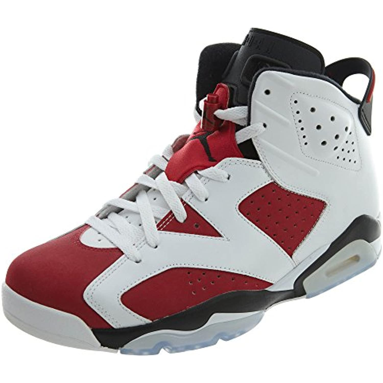 check out 80ef7 d2358 NIKE Air Jordan 6 Retro, Chaussures de Sport Homme Homme Homme - diff  eacute rents Coloris - Blanc Rouge Noir Blanc Carmine- - B003WUFBEU - f0f9b9