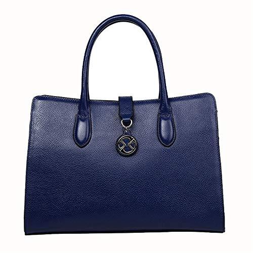 Kieuyhqk Frauen große Kapazität Taschen Pendler Tote Bag Fashion Schulter Crossbody Handtasche Frauen Casual Handtasche Schulter-Handtasche (Farbe : Blau)