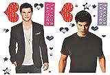 Unbekannt XL Set: Wandtattoo / Sticker - Taylor Lautner Twilight Schauspieler Jacob Black - Postersticker - Wandsticker Aufkleber Poster