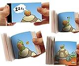 LCDG Die Schildkröte und die Schnecke: das Flipbook - Mini Daumenkino mit Tieren für Kinder