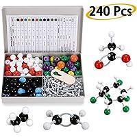 BTSKY Kit de 240 Modelos Moleculares Química Orgánica e Inorgánica Química Científica Atomizador Molecular 86 Atoms y 153 Partes de Huevos