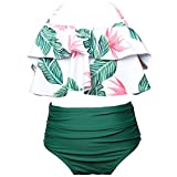 Zehui Mädchen Bikini Gr. 128 cm, Children colorful and green
