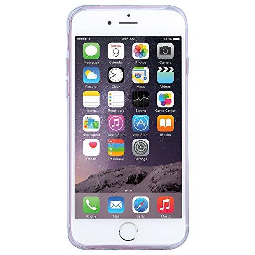 GrandEver iPhone 6/iPhone 6S Glitzer Hülle Weiche Silikon Handyhülle Flamingo Muster Bling TPU Bumper Liquid Fließen Flüssigkeit Schutzhülle für iPhone 6/iPhone 6S Rückschale Klar Handytasche Anti-Kra Rot und Rosa Flamingo