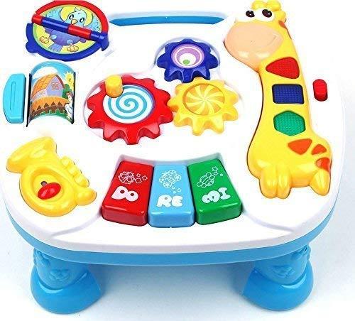 Dominiti Lerntisch Giraffe mit Licht- und Sound,, Tolle Geräusche und Melodien, Spieltisch für Kinder (Licht Tisch-spielzeug)