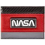 Cartera de NASA Insignia de Plata Exploración Espacial Rojo