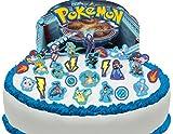 Toppershack Scène pour gâteau Pokémon comestible PRÉ-DÉCOUPÉE - 29 décorations