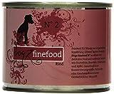 Dogz finefood Hundefutter No.2 Rind 200g, 6er Pack (6 x 200 g)