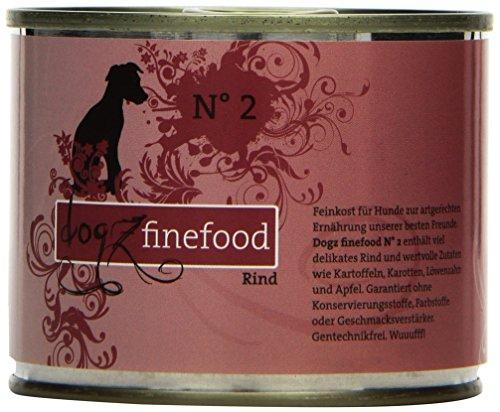 hundeinfo24.de Dogz finefood Hundefutter No.2 Rind 200g, 6er Pack (6 x 200 g)