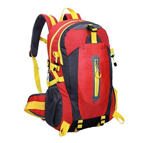 Impermeabile Escursioni Viaggi Borsa Sport Viaggi Esterno Ricreazione Borse Alpinismo,Black Red