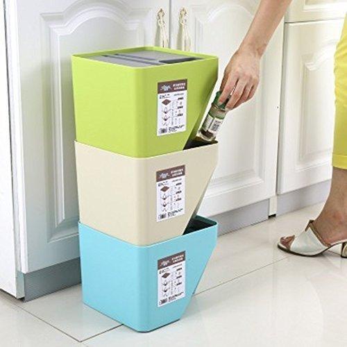 *Mülleimer Fässer Aus Kunststoff Gestapelt Drei – Teilige Klassifizierung Von Umweltfreundlichen Nicht – Toxischen 3 Stücke*