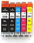 5 XL Color Direct CLI-551XL/ PGI-550XL C...