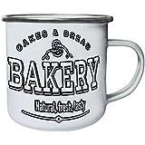 Nuevo Delicioso Café De La Panadería Retro, lata, taza del esmalte 10oz/280ml m576e