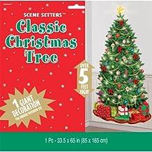 Amscan - Vinilo decorativo, diseño de árbol de Navidad