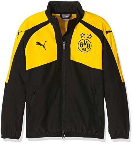 Puma Cat Woven Jacket (PUMA Kinder Jacke BVB Casuals Performance Woven Jacket, black-cyber yellow, 128, 749890 02)