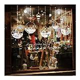 DOUPJ Weihnachtsfensteraufkleber Wandaufkleber Elektrostatische Aufkleber Aus PVC Weihnachtskugeln Home DIY Glasaufkleber Abnehmbar Neujahrsdekorationen