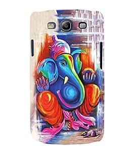 FUSON Lord Ganesha Paint Style 3D Hard Polycarbonate Designer Back Case Cover for Samsung Galaxy S3 Neo I9300I :: Samsung I9300I Galaxy S3 Neo :: Samsung Galaxy S Iii Neo+ I9300I :: Samsung Galaxy S3 Neo Plus