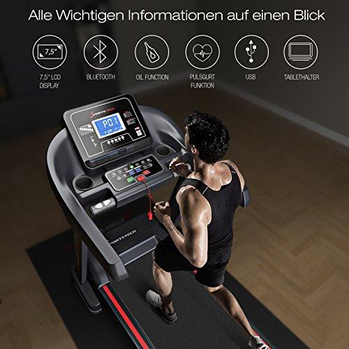 Sportstech F37 Profi Laufband, Selbstschmiersystem, Smartphone Fitness App, klappbar kompakt verstaubar Abbildung 3