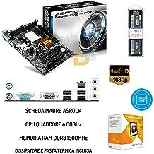 KIT PC DESKTOP SCHEDA MADRE + CPU QUADCORE 4.00GHz +