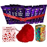 Maalpani Dairy Milk Chocolates And Heart Shape Pillow With Greeting Cards