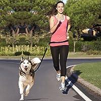 Correa de entrenamiento para perros, cinturón para pasear a perros, correa de absorción de golpes y cinturón ajustable, costuras con reflectante, perfecto para correr, trotar, senderismo y caminar, de la marca Topist