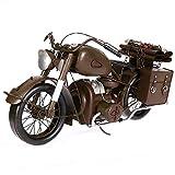 OSDFN Weinlesemilitärmotorradmodell reine handgemachte nostalgische Kunstsammlungshauptbarcafé-Dekorations-Fotografiestützen