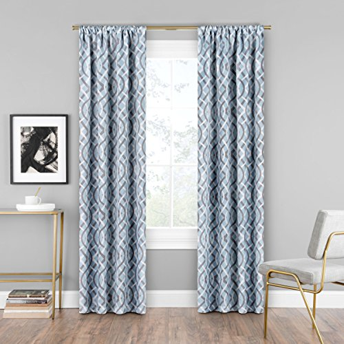 Eclipse Curtains Single Window Curtain Robins Egg Blue 37 X 95