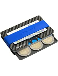 Tarjetero de Carbono con Monedero y Clip para Billetes | Protección RFID y NFC | Tarjeta Multiusos | Más Fino que cualquier Cartera | PROTECCIÓN hasta 16 Tarjetas Crédito | Pinza para Billetes